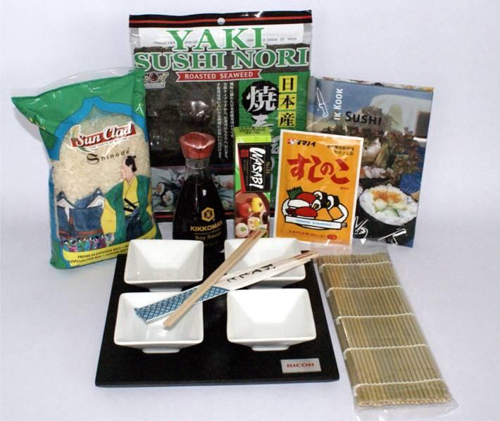 Luxer sushi pakket met dipschaaltjes en eetstokjes